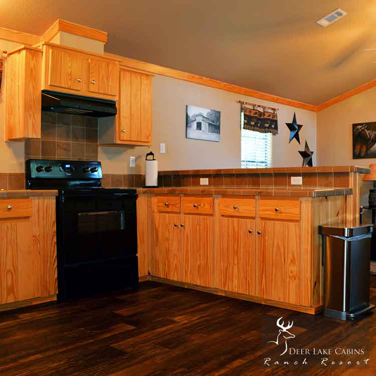 Deer Lake Cabins Ranch Resort Cowboy Corner Cabin. Vacation Rental house that sleeps up to 4 people.